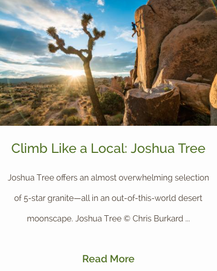 Joshua Tree - Climb Like a Local