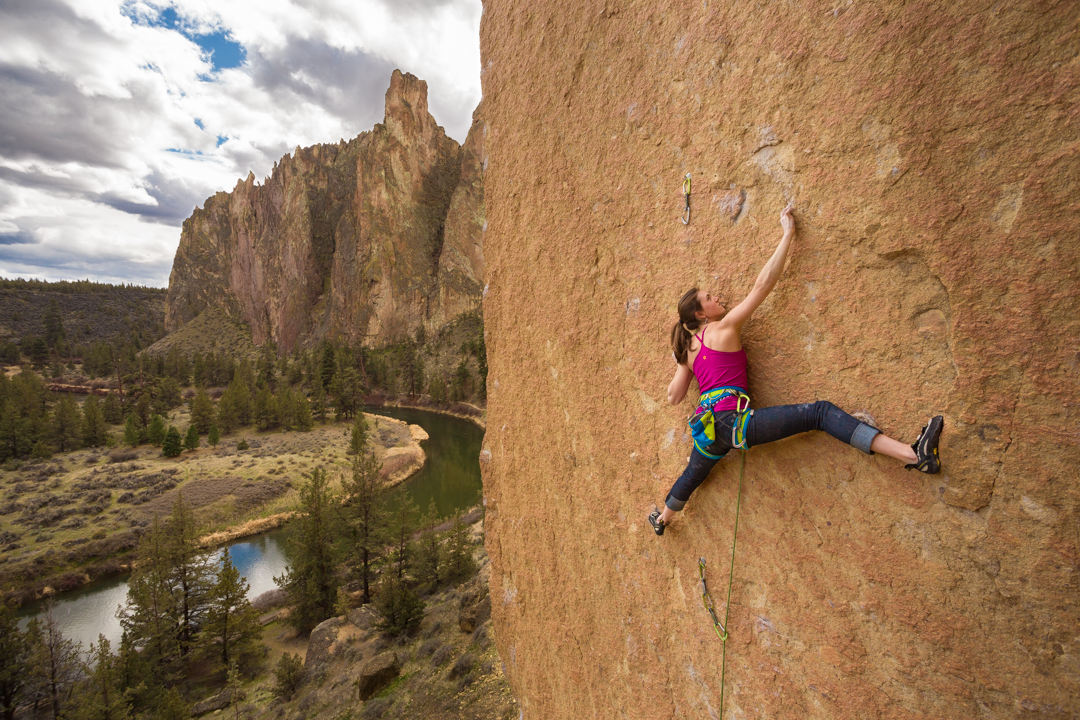 Paige Claassen Rock Climbing at Smith Rock State Park in Oregon