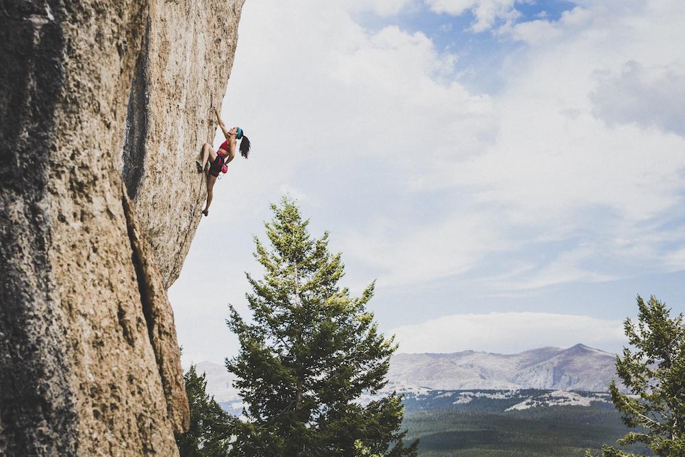 Rock climbing at Tensleep in Wyoming.