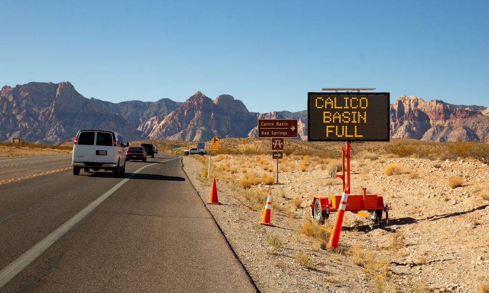 Red Rock Canyon National Conservation Area recently implemented a permanent permit system. Ancestral lands of Southern Paiute and Western Shoshone. © Irene Yee